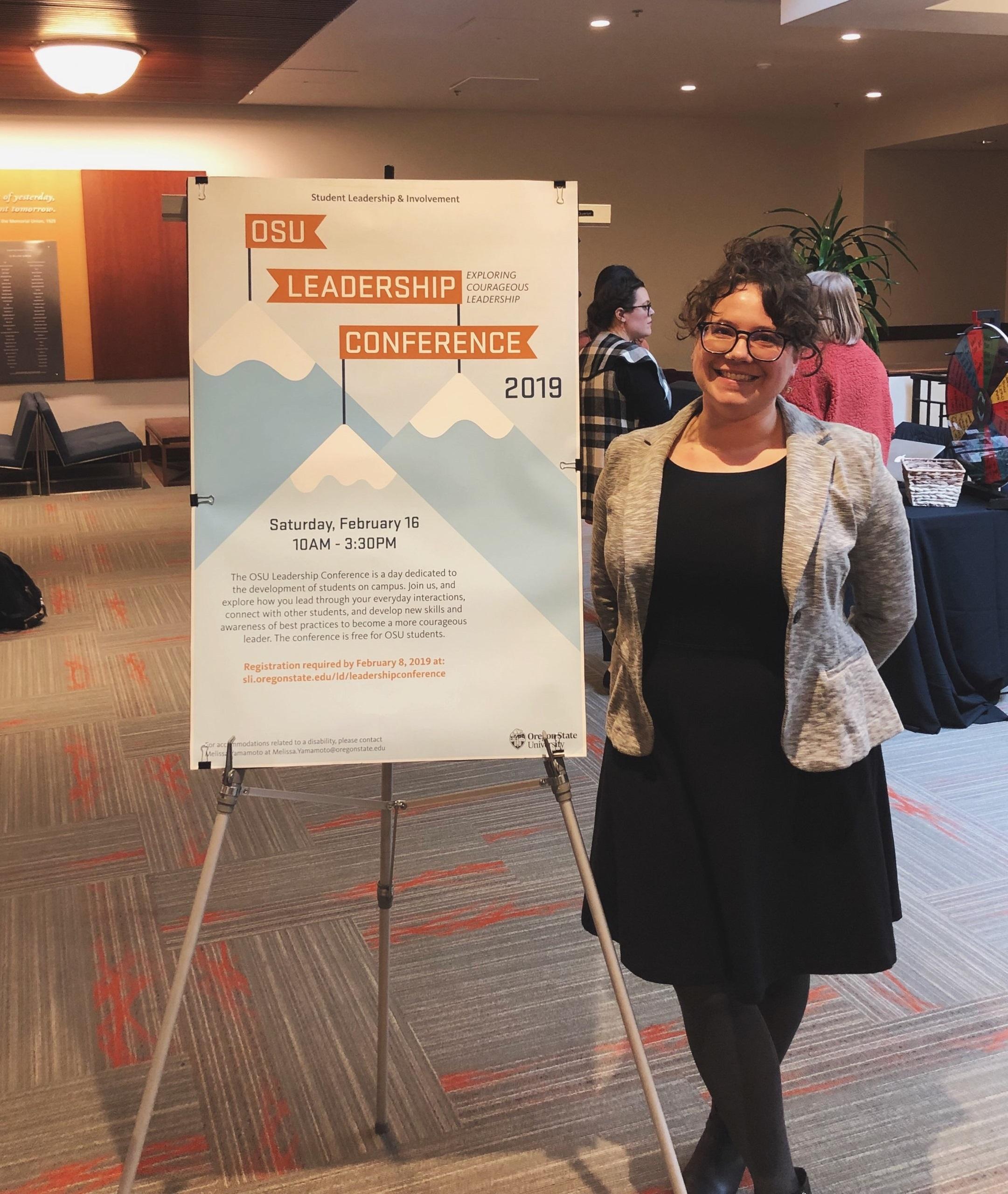 Advance Graduate Research Assistant Kali Furman Delivers Keynote Address At Oregon State University Leadership Conference Oregon State Advance Oregon State University