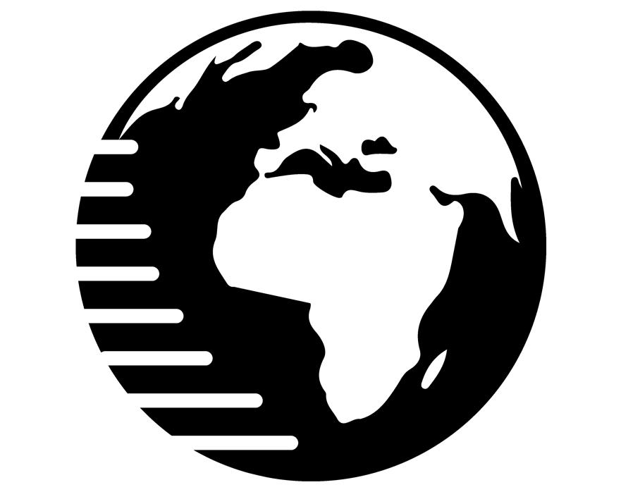 Black and White Image of Globe