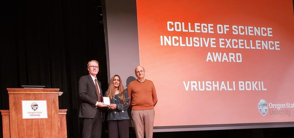 Vrushali Receiving Award